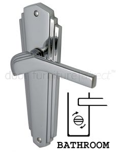 Heritage Brass Waldorf Chrome WAL6530PC Art Deco Bathroom Handles