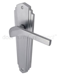 Heritage Brass Waldorf Satin Chrome WAL6510SC Art Deco Latch Handles