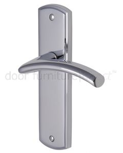 Centaur Curved Lever Polished Chrome Latch Door Handles
