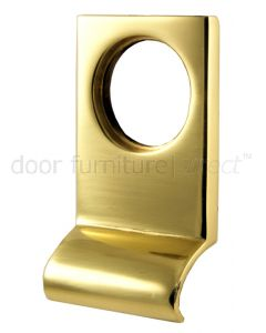 Polished Brass Square Edge Cylinder Door Pull