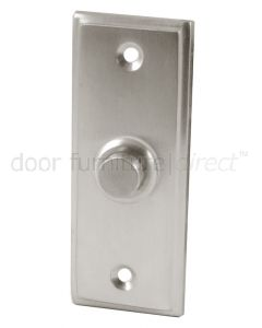 Satin Chrome Rectangular Front Door Bell Push