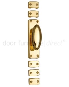 Polished Brass French Door or Window Espagnolette Bolt