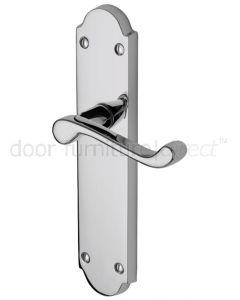 Kensington Scroll Lever Polished Chrome Latch Door Handle Set