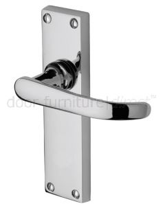 Avon Straight Lever Polished Chrome Latch Door Handle Set