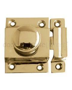 Door Catch Polished Brass 56x36mm