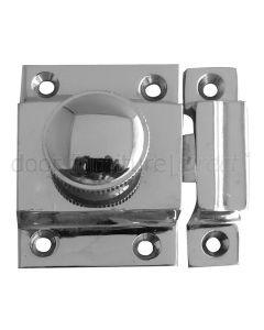 Door Catch Polished Chrome 56x36mm