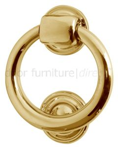 Brass Ring Door Knocker 105mm