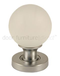 Frosted Glass Ball Mortice Door Knobs