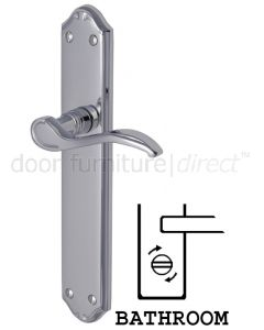 Verona Scroll Lever Polished Chrome Bathroom Lock Door Handles