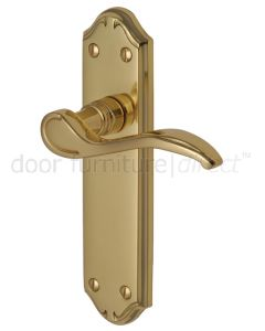 Verona Small Scroll Lever Polished Brass Latch Door Handles