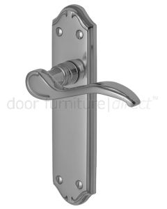 Verona Small Scroll Lever Polished Chrome Latch Door Handles