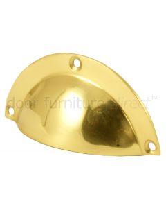 Polished Brass Drawer Pull Handle 97mm