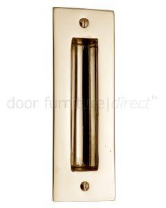 Polished Brass Flush Pull Door Handle 102mm