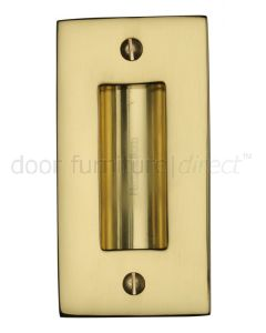Polished Brass Flush Pull Door Handle 102mm
