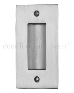 Satin Chrome Flush Pull Door Handle 102mm