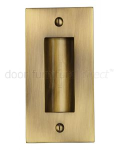 Antique Brass Flush Pull Door Handle 102mm