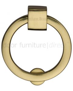 Heritage Polished Brass Round Cabinet Pull 50mm