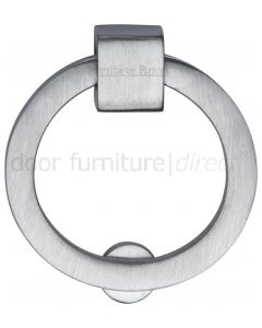 Heritage Satin Chrome Round Cabinet Pull 50mm