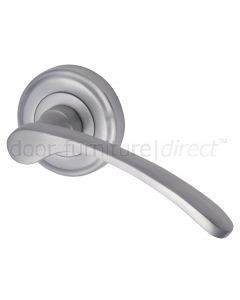 Sophia Satin Chrome Curved Lever on Round Rose