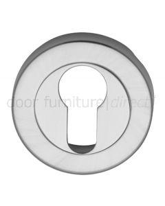 Satin Chrome Round Euro Profile Escutcheon 53mm