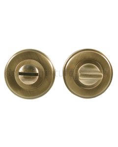 Distressed Brass Thumb Turn and Emergency Release 50mm