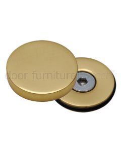 Polished Brass Concealed Bolt Head Cover Plate