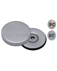 Satin Chrome Concealed Bolt Head Cover Plate