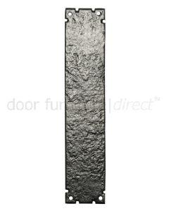 Black Antique Iron Door Push Plate 304x63mm 769