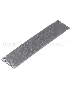 Pewter Finished Iron Door Push Plate 304x63mm P769-12