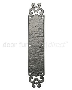 Black Antique Iron Ornate Door Push Plate 304x57mm 770