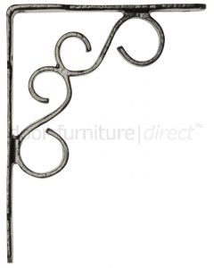 Black Antique Iron Ornate Shelf Brackets In Pairs