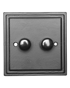 Black Double Dimmer Switch 5122