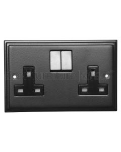 Black Double Socket 5118