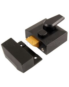 Black Narrow Style Nightlatch 5143