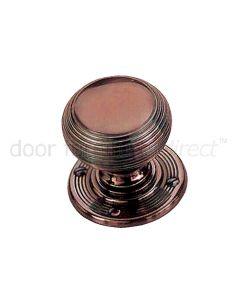 Real Bronze 64mm Reeded Bun Door Knobs