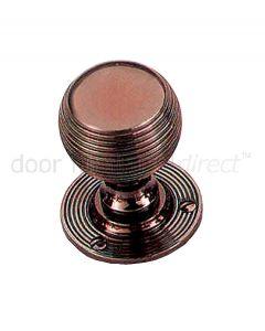 Real Bronze 48mm Reeded Ball Door Knobs