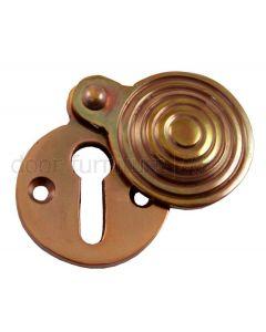 Real Bronze Reeded Escutcheon 31mm Diameter