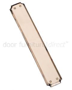 Real bronze Shaped Finger Plate