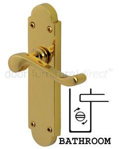 PVD None Tarnish Brass Savoy Bathroom Lock Door Handles