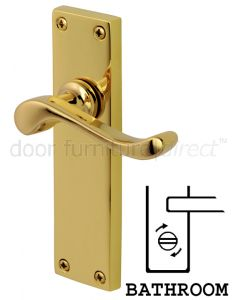 PVD None Tarnish Brass Bedford Bathroom Lock Door Handles