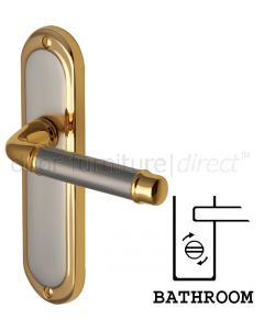 Saturn Straight Lever Dual Finish Bathroom Door Handles