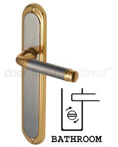 Saturn Long Straight Lever Dual Finish Bathroom Door Handles
