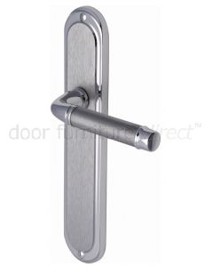 Saturn Long Straight Lever Dual Finish Chrome Latch Door Handles