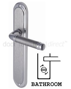 Saturn Long Straight Lever Dual Finish Chrome Bathroom Lock Door Handles