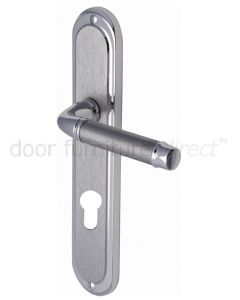 Saturn Long Straight Lever Dual Finish Chrome 48mm Euro Door Handles