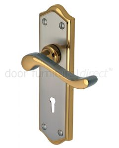 Buckingham Scroll Lever Dual Finish Keyhole Door Handles