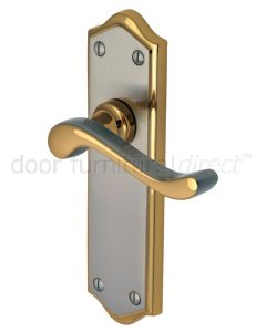 Buckingham Scroll Lever Dual Finish Latch Door Handles