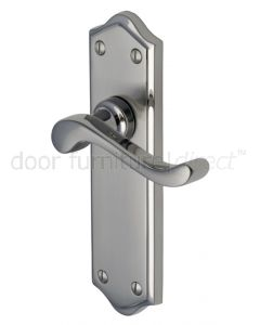 Buckingham Scroll Lever Dual Finish Nickel Latch Door Handles