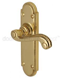 Adam Scroll Lever Polished Brass Latch Door Handles