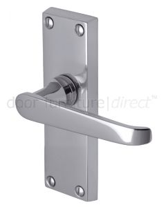 Victoria Straight Lever Polished Chrome Short Latch Door Handles